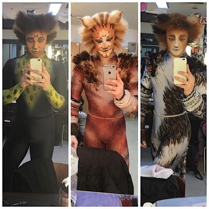Hayden Baum as Rum Tum Tugger, Skimbleshanks and Admetus.