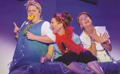 MAMMA MIA! - Alicia Gardiner, Natalie O'Donnell, Jayde Westaby. Image by James Morgan.