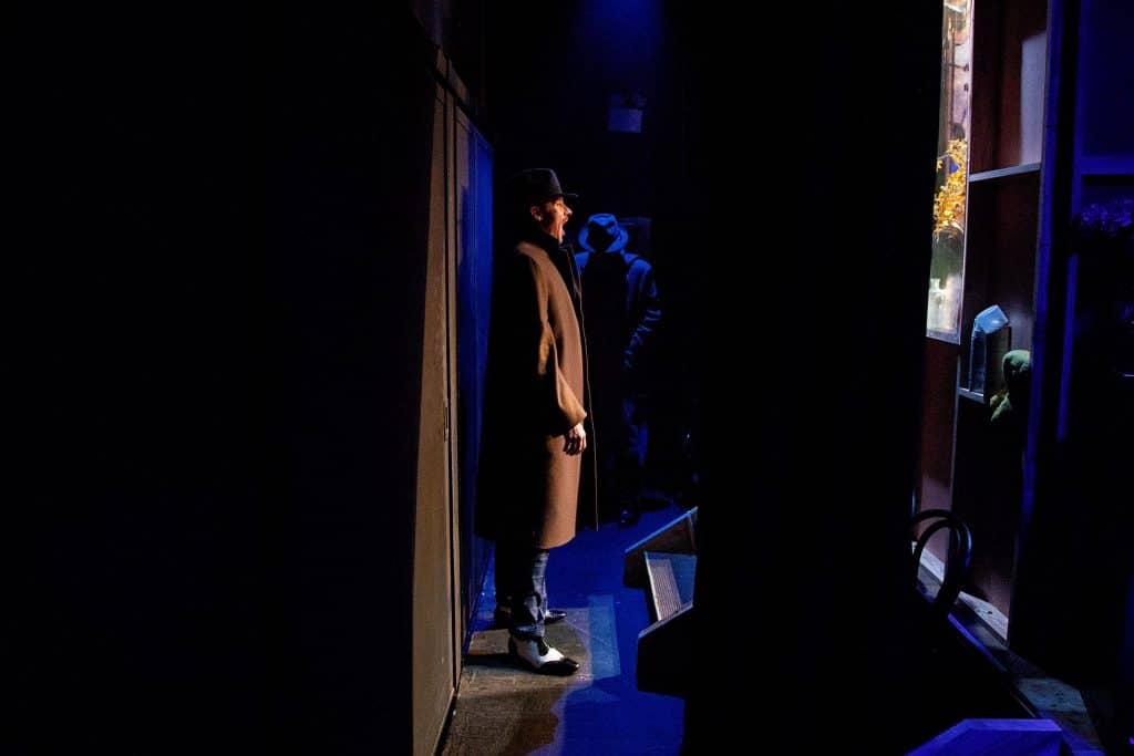 Kurt Phelan providing off stage vocals