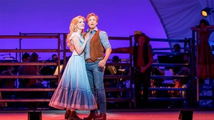 Simon and Anna O'Byrne as Curly and Laurey in The Production Company's Oklahoma!