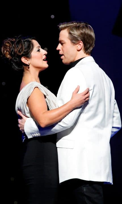 Simon and Silvie Paladino as Anatoly and Florence in The Production Company's Chess