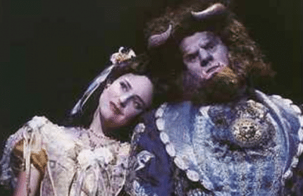 Rachael and Michael in the 1995 Australian Premiere of Beauty and the Beast