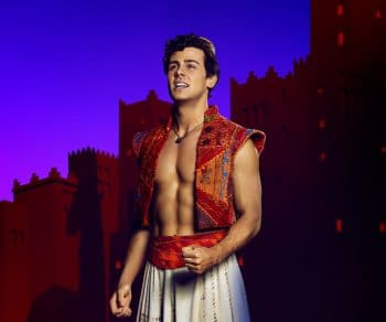Ainsley Melham as Aladdin. Image by Michele Aboud.