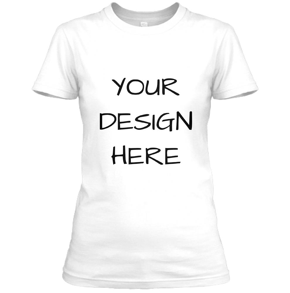 Womens White Crew Neck T-Shirt