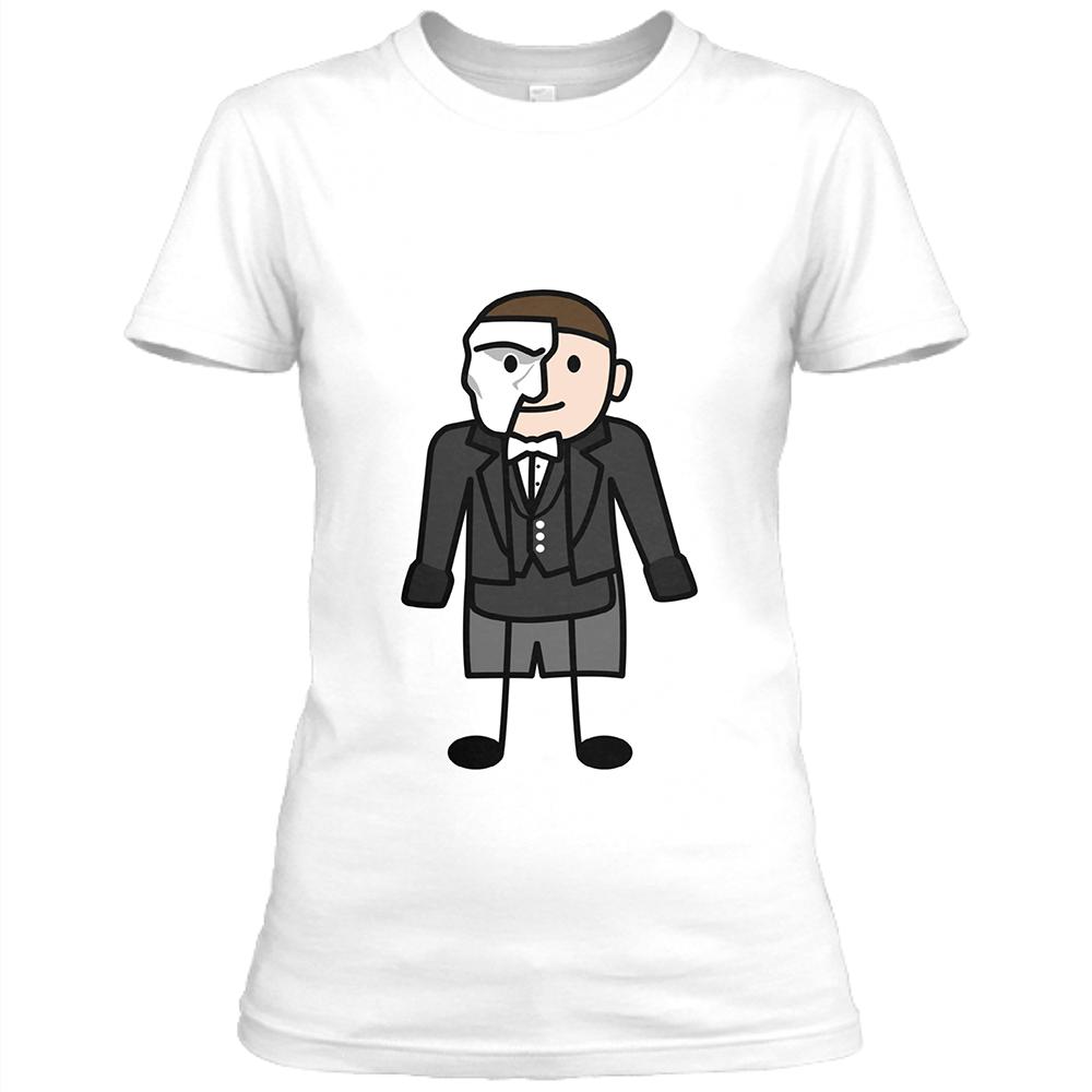 Phantom Womens White Crew Neck T-Shirt
