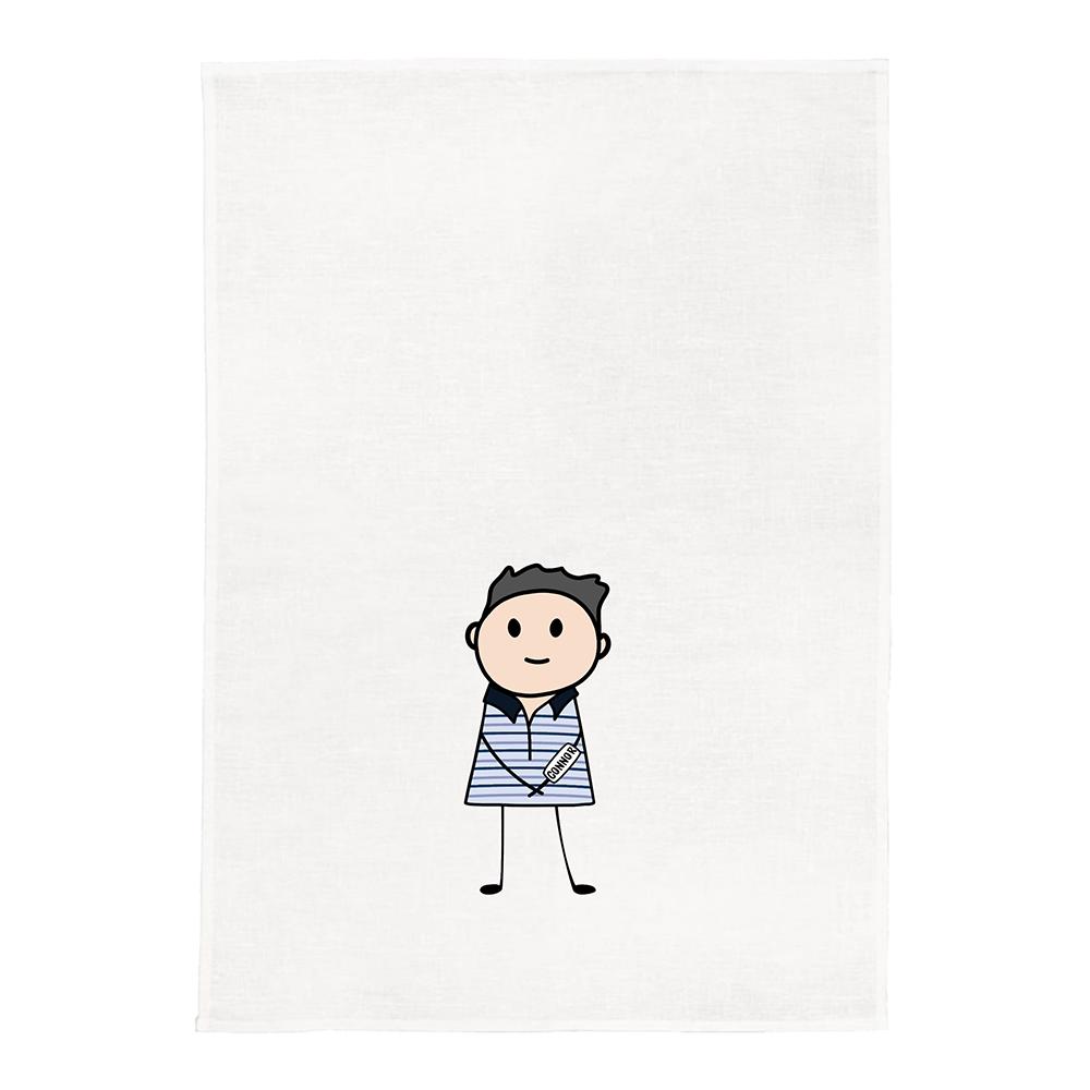 Evan Hansen White Kitchen Tea Towel