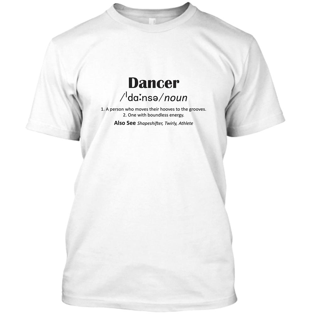 Dancer Men's White Crew Neck T-Shirt