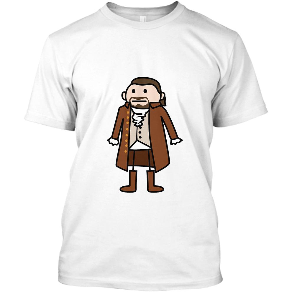 Hamilton Men's White Crew Neck T-Shirt