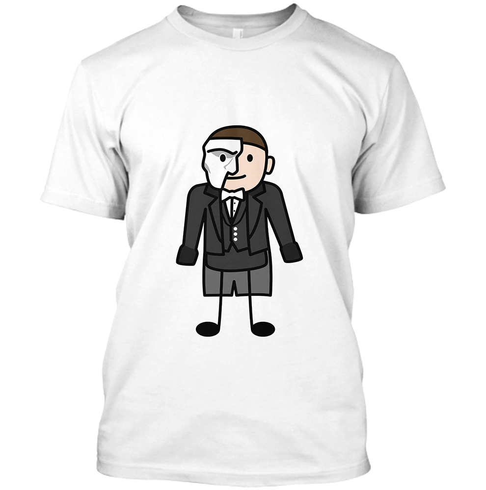 Phantom Men's White Crew Neck T-Shirt