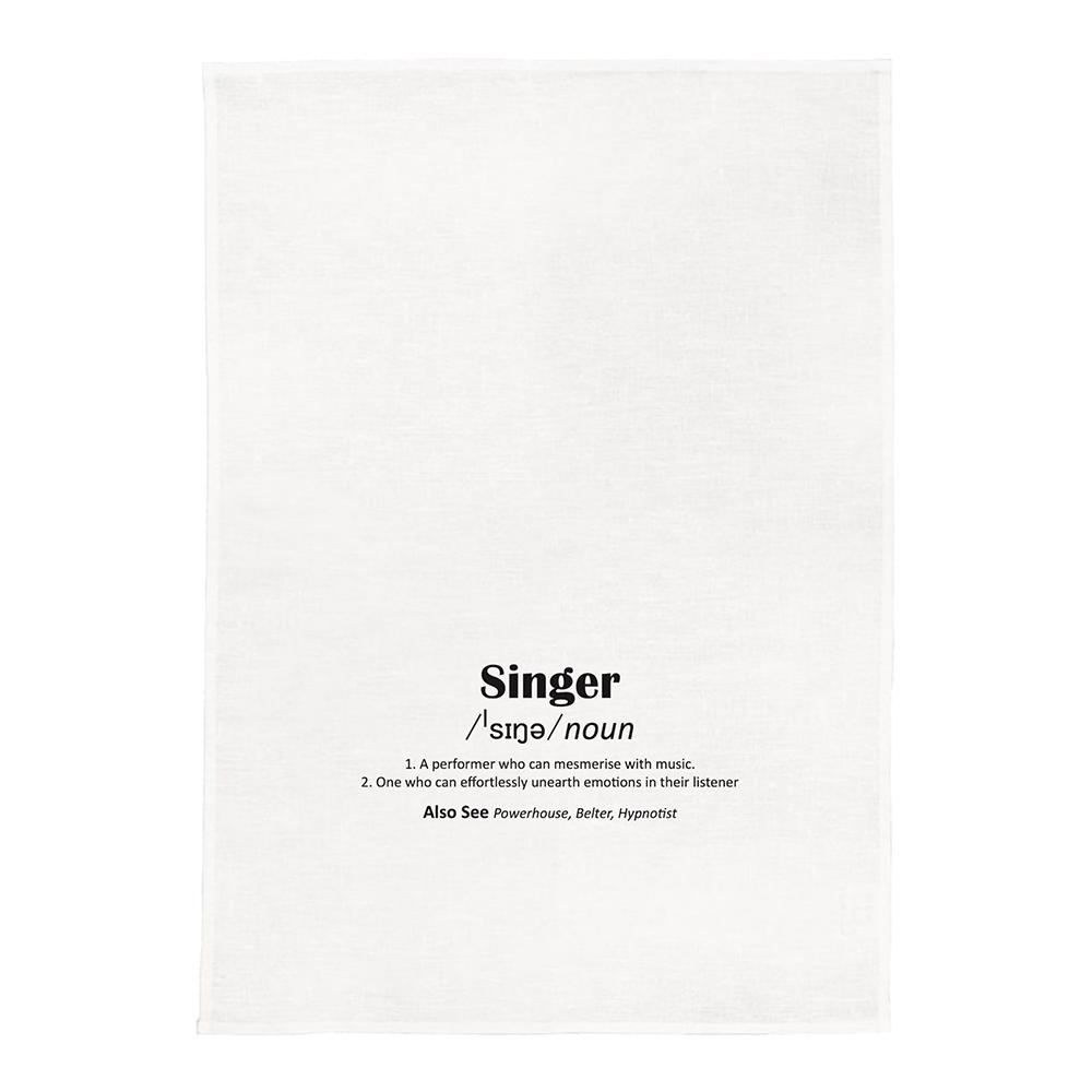 Singer White Kitchen Tea Towel