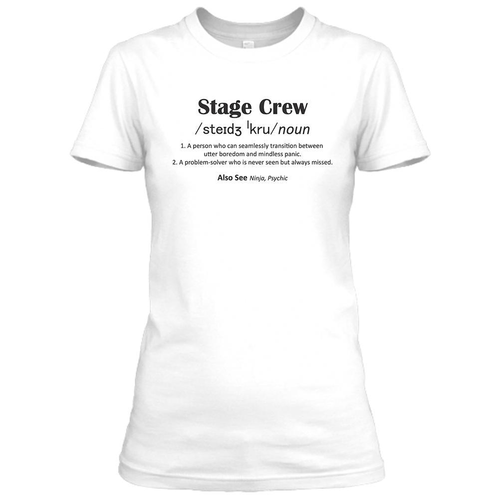 Stage Crew Womens White Crew Neck T-Shirt