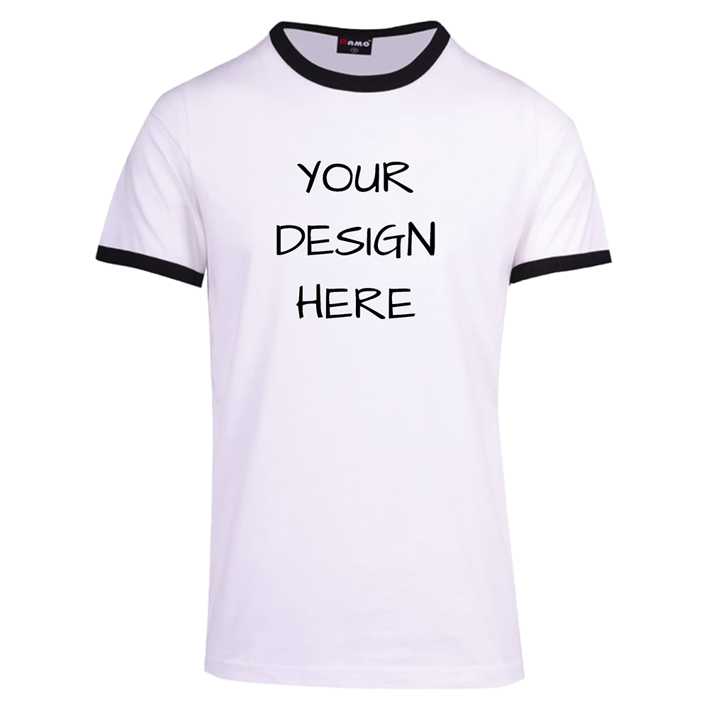 Slim Fit Black Rim Unisex T-Shirt