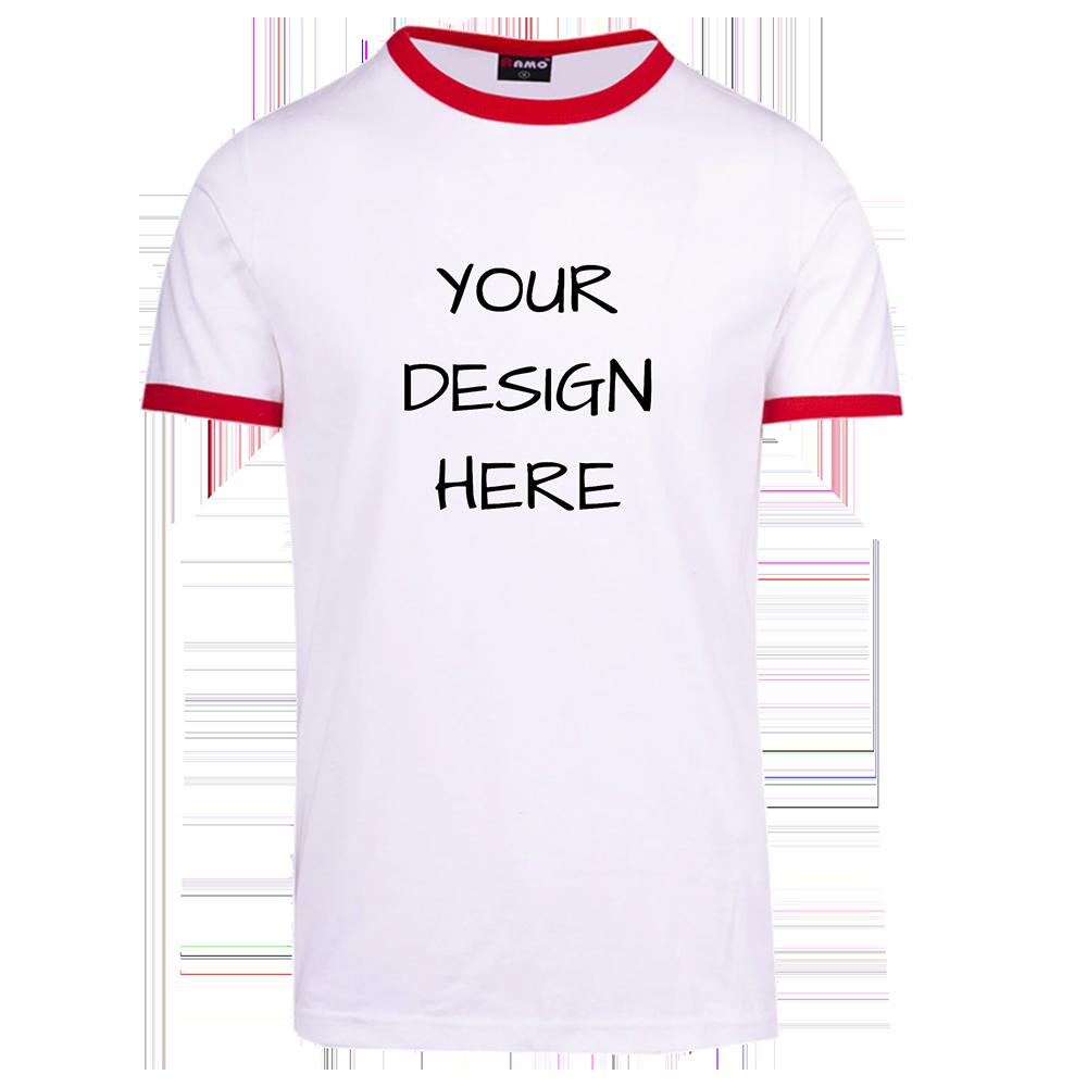 Slim Fit Red Rim Unisex T-Shirt