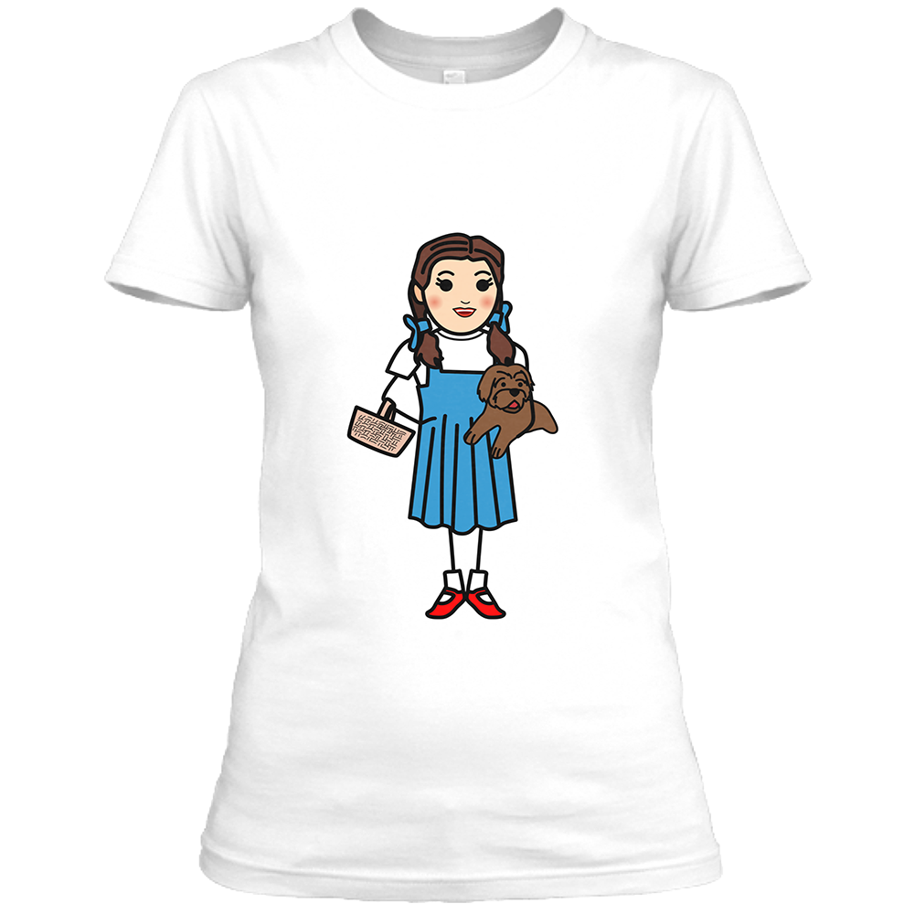 Dorothy Womens White Crew Neck T-Shirt