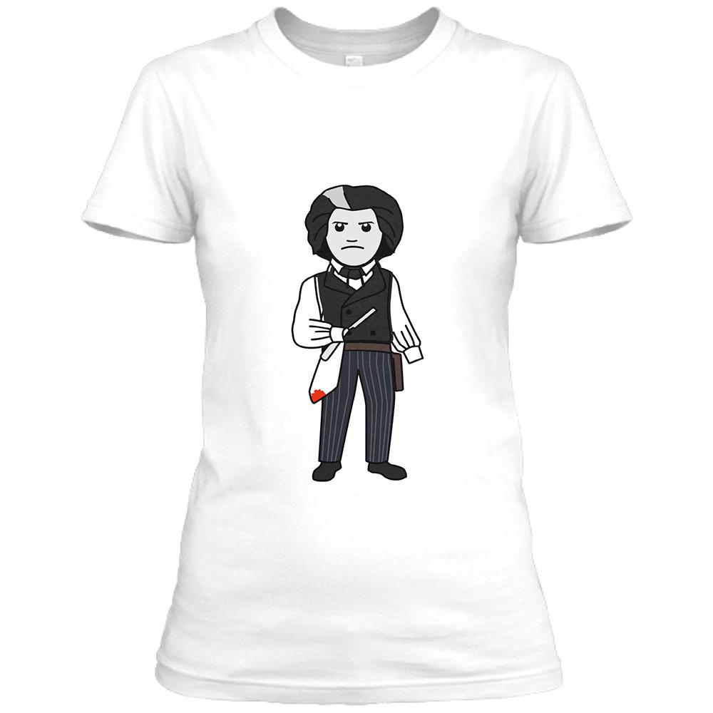 Sweeney Womens White Crew Neck T-Shirt
