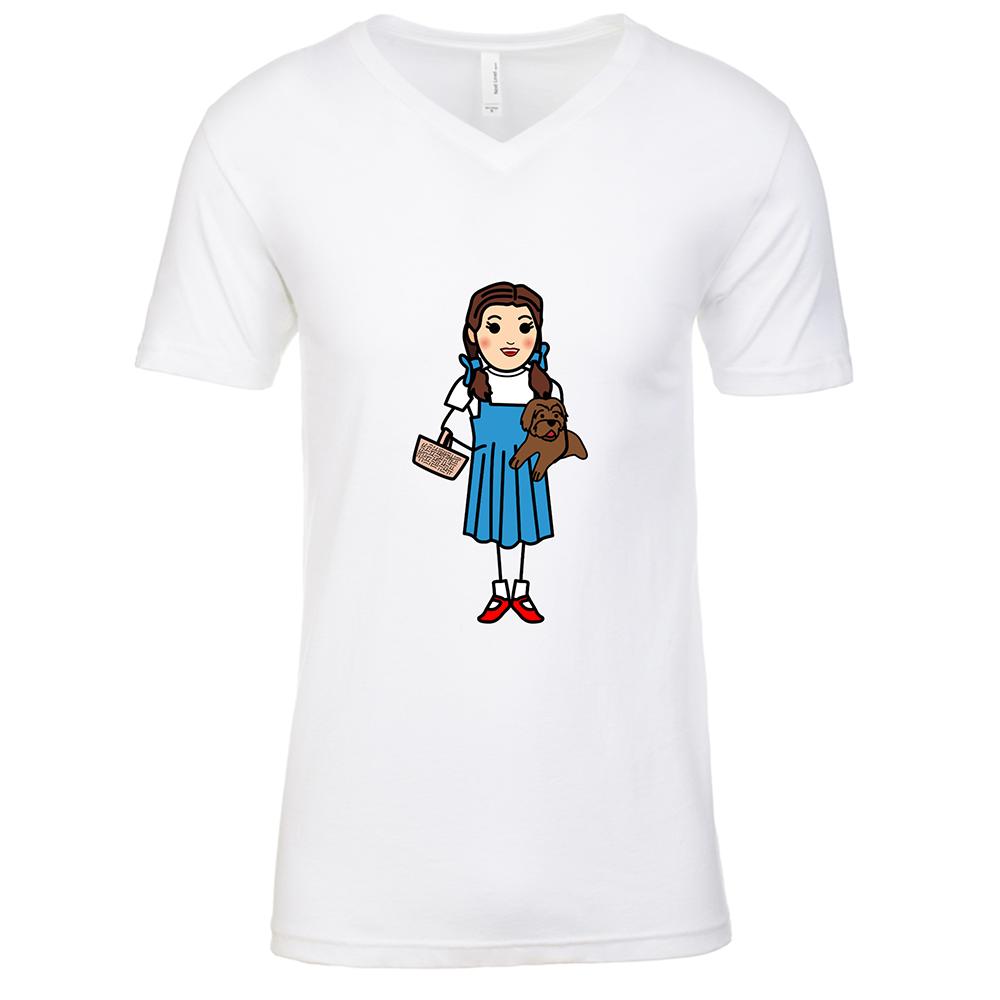 Dorothy Mens White V Neck T-Shirt