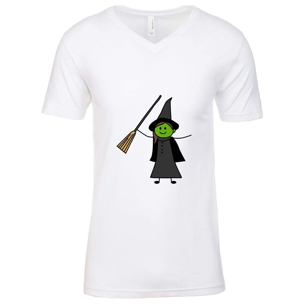 Wicked Mens White V Neck T-Shirt