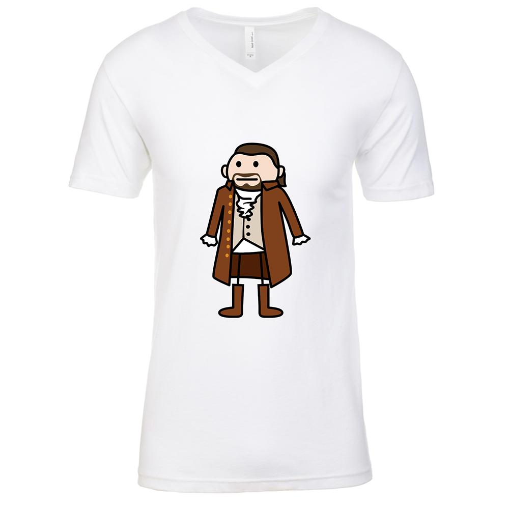 Hamilton Mens White V Neck T-Shirt