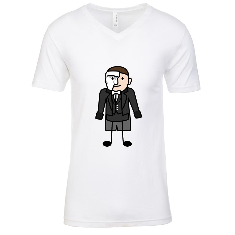 Phantom Mens White V Neck T-Shirt