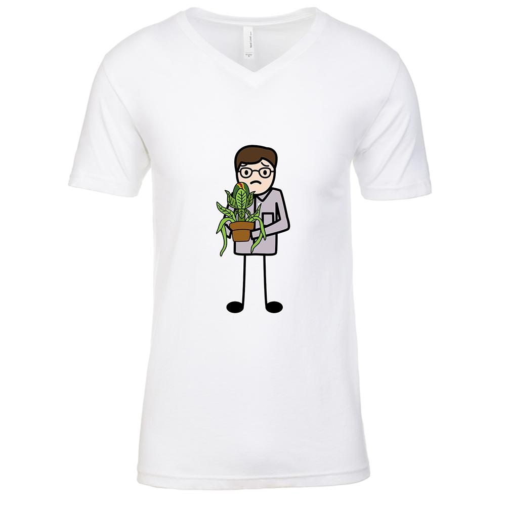 Seymour Mens White V Neck T-Shirt